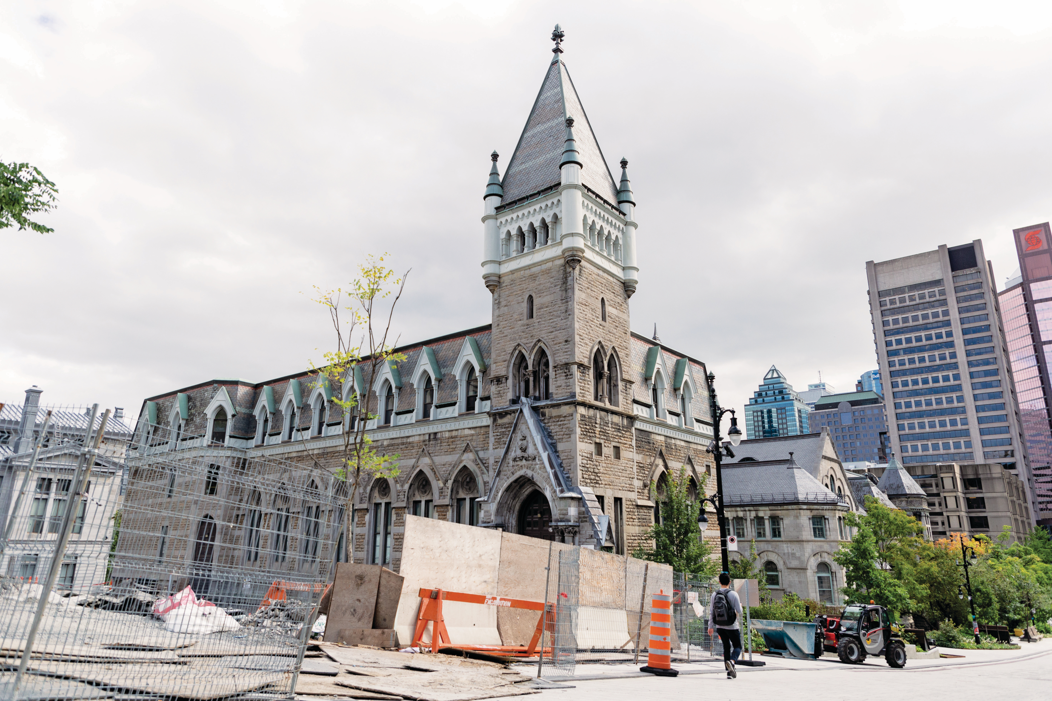 Many buildings at McGill are being repaired, including Morrice Hall (Photograph by Stacy Lee)