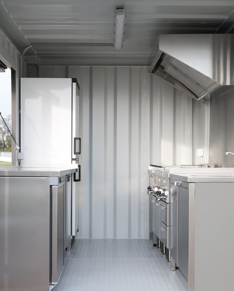 walkingboxes are sustainable food trucks made from shipping containers designboom